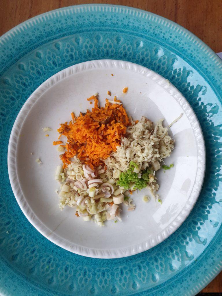 Gurkmeja, ingefära och citrongräs